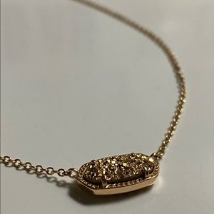 kendra scott rose gold necklace in rose gold drusy